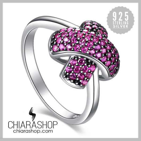 Cross Mark 0.6ct Created Ruby Pave Promise Pure 925 Sterling Silver Ring