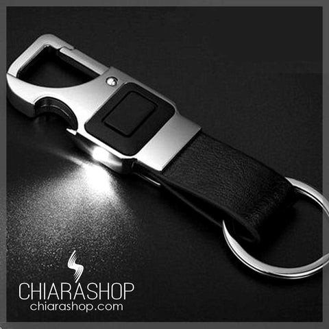 Exclusive Metal House Car Office Key Chain With Bottle Opener And Flashlight