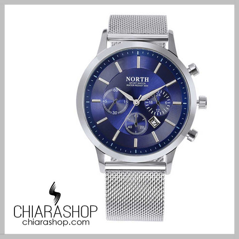 North Military Style Stainless Steel Businessman Watch