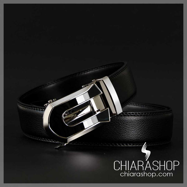 High Quality Cow Genuine Leather Automatic Buckle Masculine Men's Belt