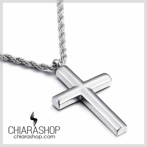 High Quality Elegant Pure Stainless Steel Cross Necklace