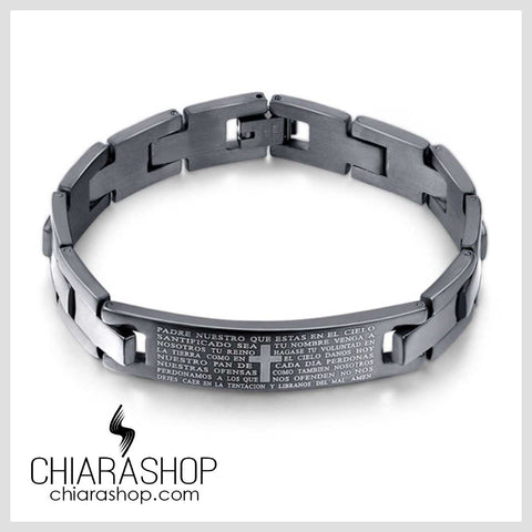 Chiarashop Trendy Premium Stainless Steel The Lord's Prayer Cross Bracelet