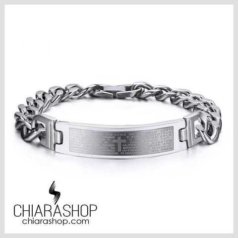 Chiarashop High Quality Full Stainless Steel The Lord's Prayer Cross Bracelet