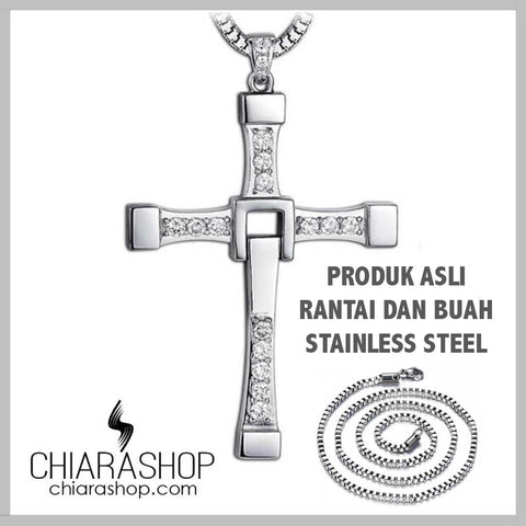 "New Torreto's ""The Fast And The Furious"" 316L Stainless Steel Cross Necklace"