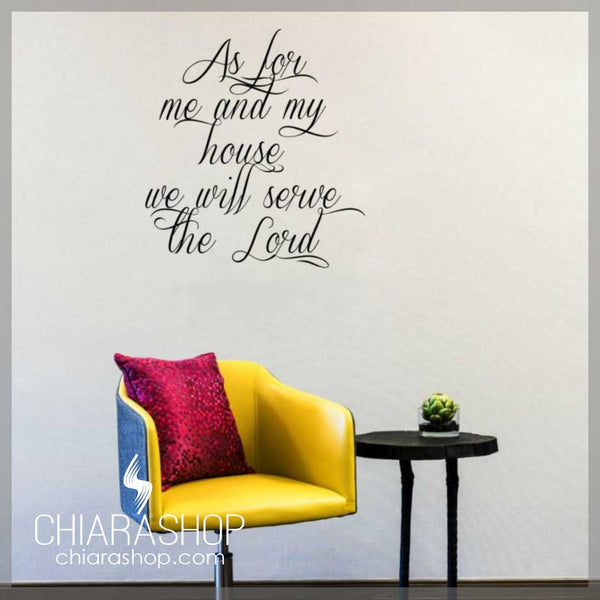 Joshua 24:15 Wall Decal Sticker