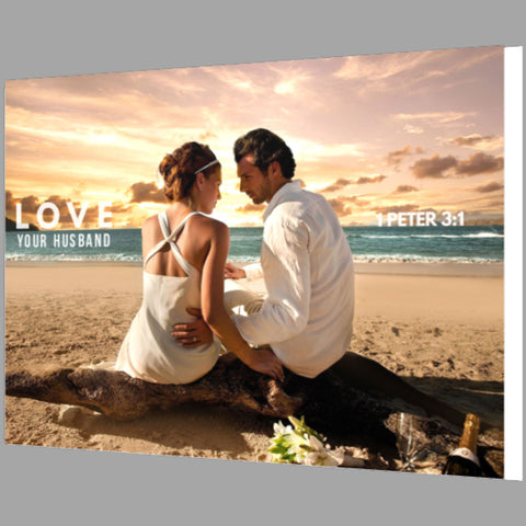 Love Your Husband Framed Canvas Print