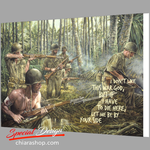 I Don't Like This War Framed Canvas Print