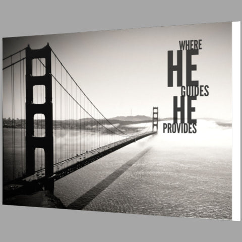 Where He Guides He Provides Framed Canvas Print