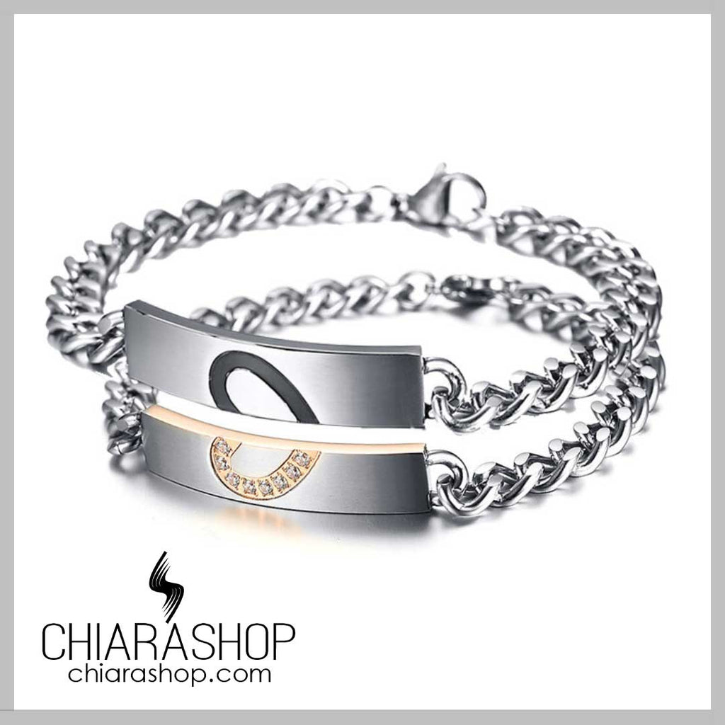 Couples Premium Stainless Steel Forever Love Bracelet