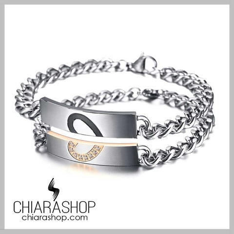 Premium Stainless Steel Forever Love Couples Bracelet