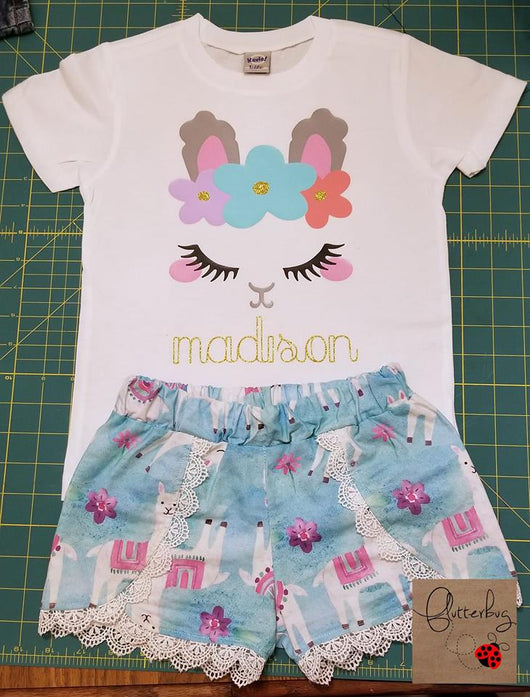 Llama Shirt and Short Set