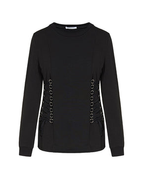 Black blouse with eyelet detail by Glamorous