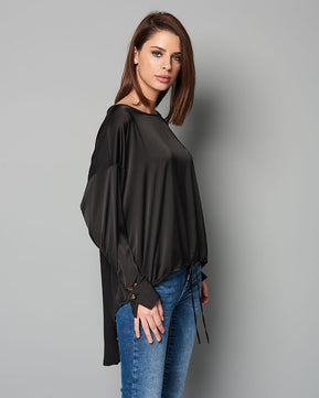 Assymetric black blouse by Nejma