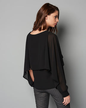 Open Sleeve Black Blouse by Vero Moda