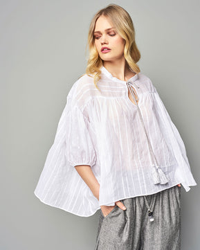 Drawstring Blouse by Nejma
