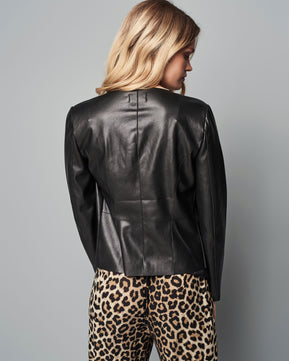 Metal Sound Faux Leather Jacket by Only