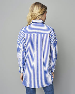Melrose Stripe Denim Shirt by Only