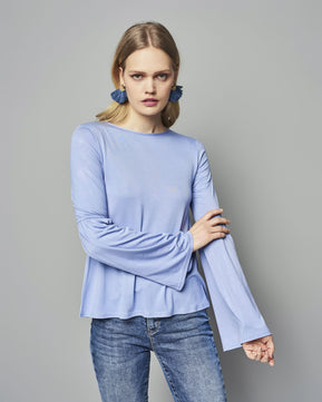 Blue Ruffled Blouse by Glamorous