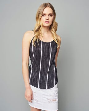 Halle Fiola Striped top by Pieces