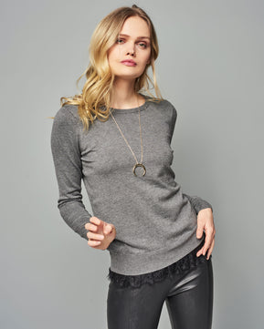 Carmel glory O-Neck Charcoal blouse by Vero Moda