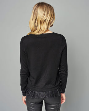 Carmel Glory O-Neck Black Cardigan by Vero Moda