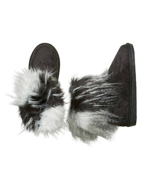 Furry Black Boots