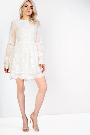 White lace dress by Glamorous