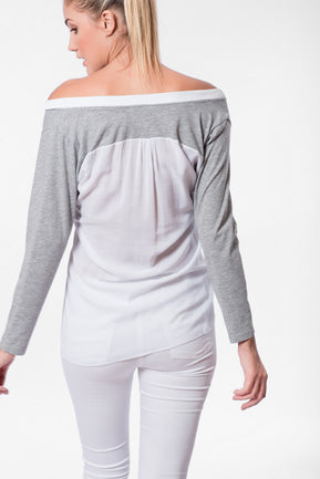 Asymmetric paneled blouse by DaMa