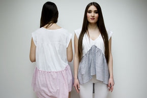 Asymmetric Frilled Top Pink by DaMa