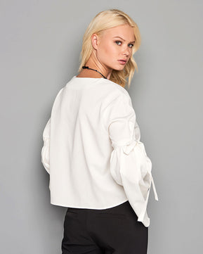 White top with bell sleeve by Glamorous