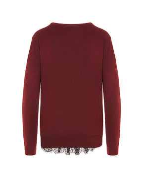 Carmel glory O-Neck burgundy blouse by Vero Moda