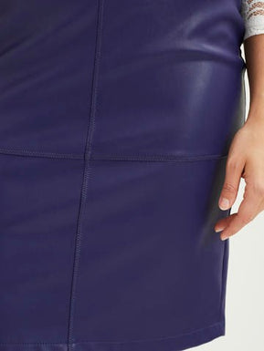 PU Leather pencil skirt by Vila