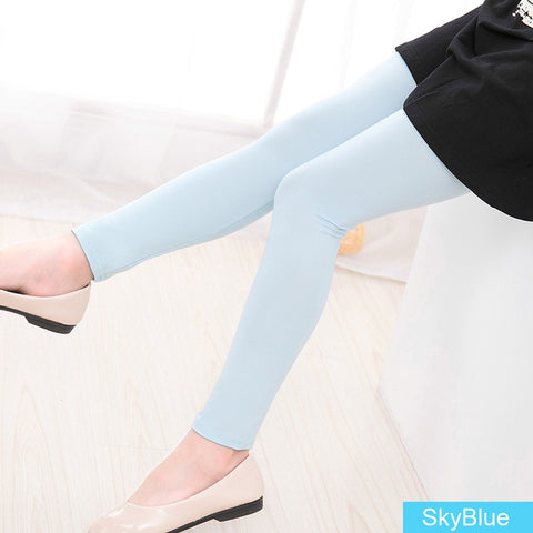 Girls Leggings Kids skinny full length leggings for 3-12Y girls