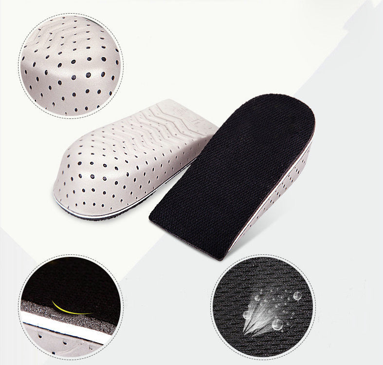 Men and Women Increasing Orthotics Half Insole Pad Height Cushion Taller Male Female Footwear Shoes Height Cushion Insoles