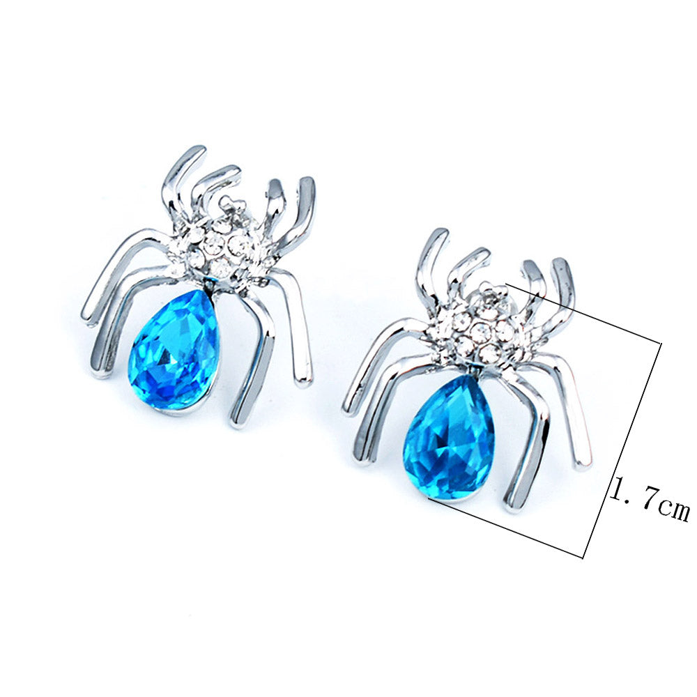 Crystal Small Spider Stud Earrings 3 Colors