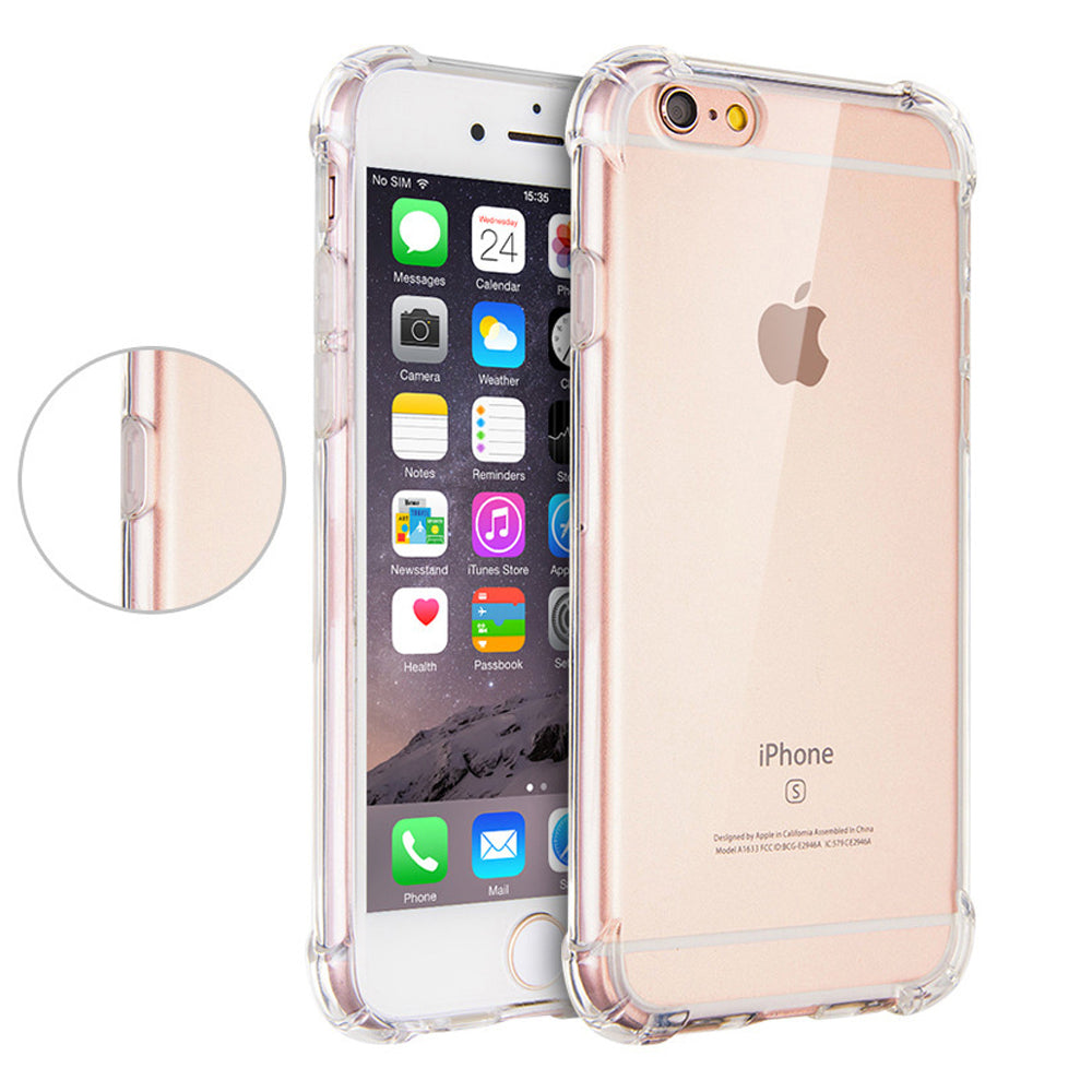 Clear Anti-knock Case for iPhone 7/ 7s/ 6/ 6s/ 5/ 5s/ 8