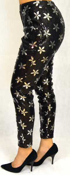 Black & Silver Sequin Pant