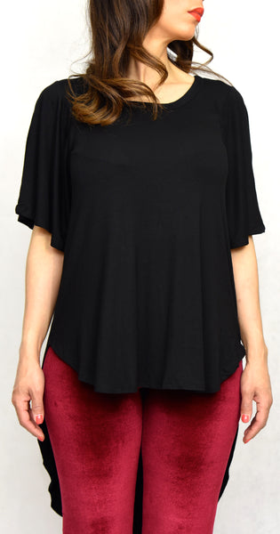 Black Bell Sleeve Shirt