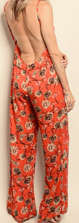 Coral Flower Jumpsuit