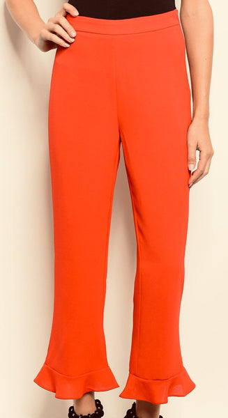 Rouge Ankle Ruffle Pants