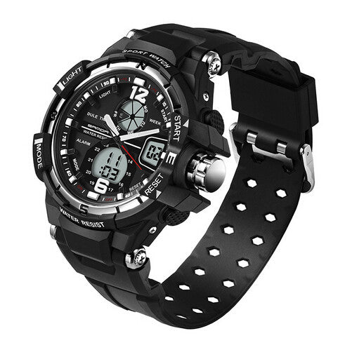 SANDA Mens Sports Military Watch Shock Resistant Wristwatch