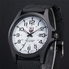 Mens Steel Outdoor Military Army Sports Wristwatch