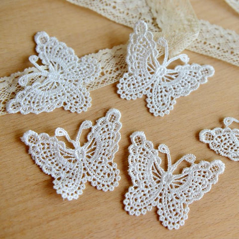 FREE Embroidered Lace Butterflies