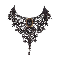 Handmade Vintage Lace Collar Choker Bib Necklace