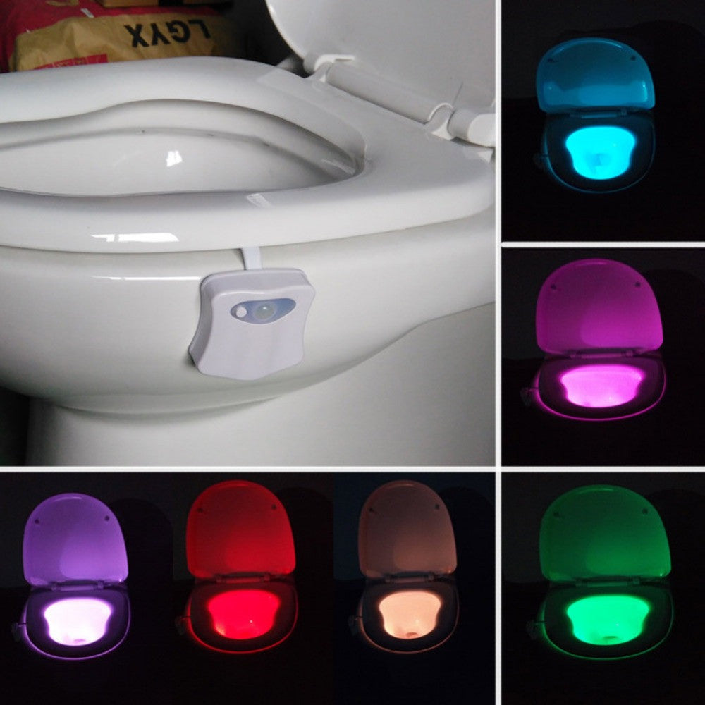 Motion Activated LED Toilet Nightlight  8 Colors