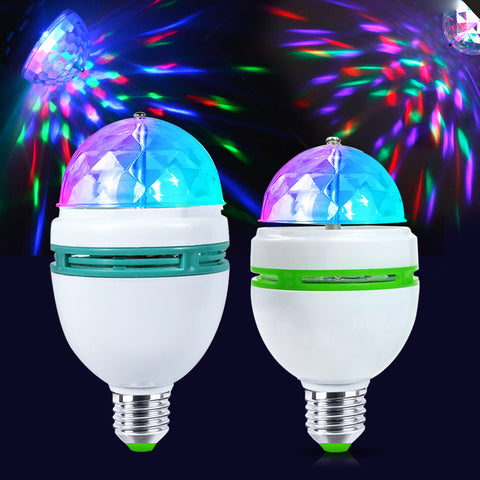 Colorful LED Auto Rotating Projector Light Bulb