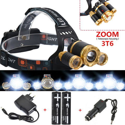 Adjustable Focus 4 Mode Zoom LED Head Light