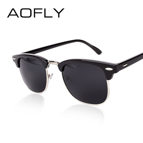 AOFLY CLASSIC Metal Mirror Tinted Sunglasses