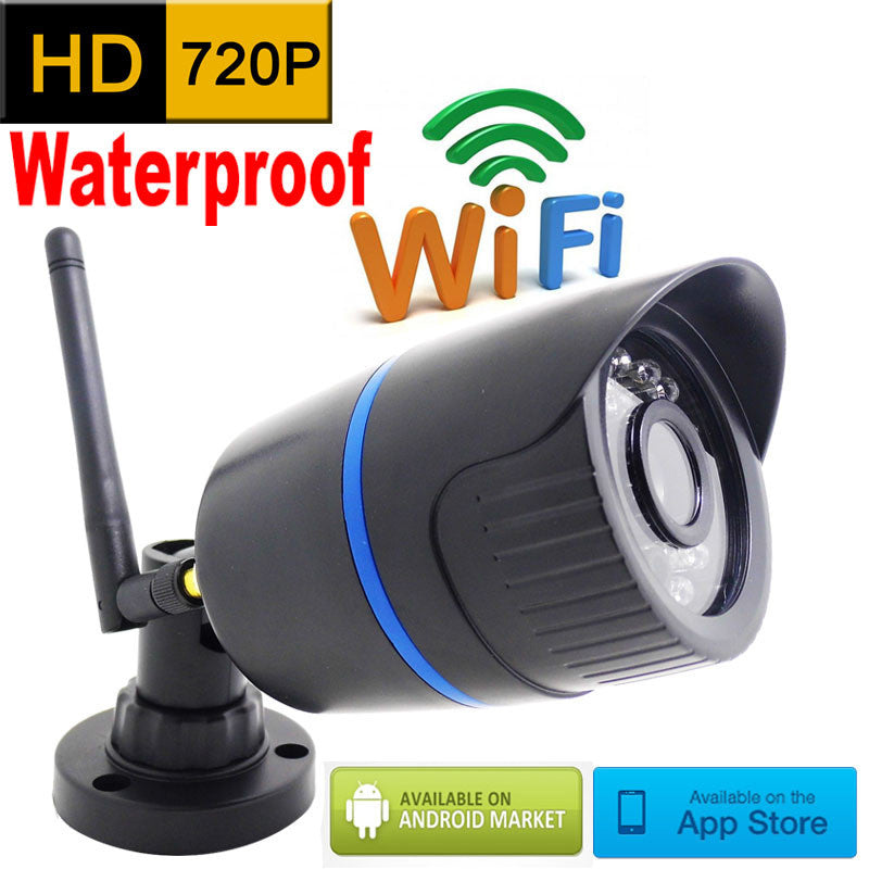 Outdoor Waterproof 720P HD Wifi IP Camera w/ Infrared