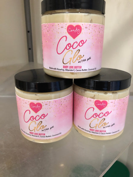 8 oz. Coco Glo Body Butter w/24 karat gold